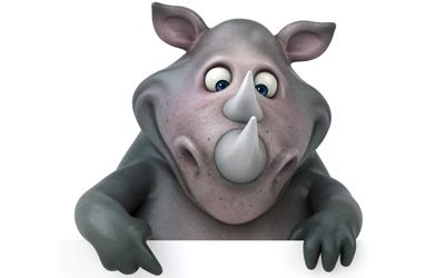 Red een neushoorn